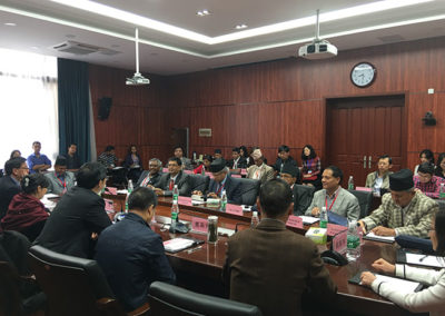 Mr.H.B.Chhetri, Director of Newtonian Science Counselling Institute Pvt.Ltd.,in a training program in Sichuan University along with delegation from Nepal.