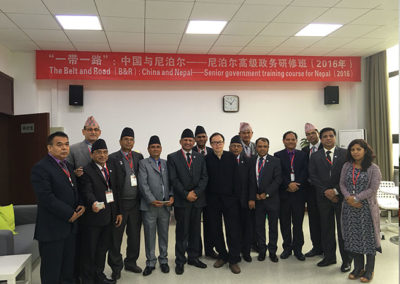 Hon.Mr. PRADIP GYAWALI (At present he is the Foreign Minister Of Nepal) During A Training Program At Sichuan University