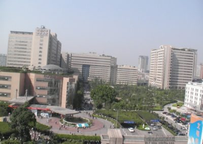 A view of First University Hospital