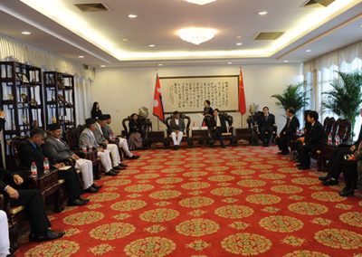 Rt. Hon. Mr K.P.Sharma Oli,during his meeting  inSichuan University in 2016