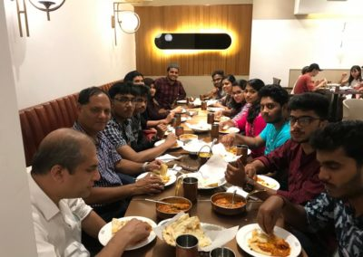 Mr H.B.Chhetri with Indian students in an Indian restaurant in Chengdu